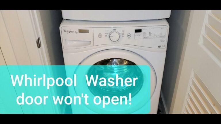 American appliance repair, Whirlpool Duet washer Won't Unlock