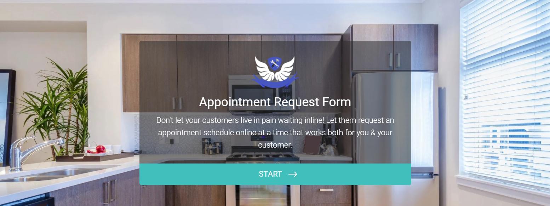 booking appliance repair service